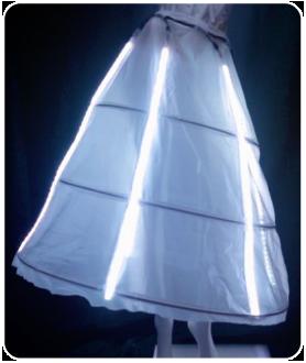 ロング丈 LEDインナーパニエ