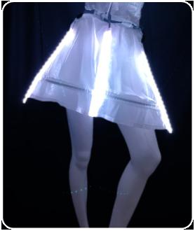 ショート丈 LEDインナーパニエ