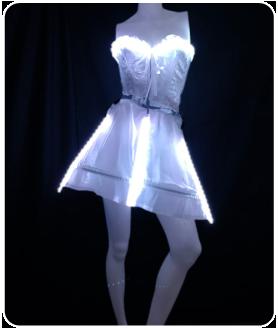ショート丈 LEDインナーパニエ LEDコルセット(ピスチェ)